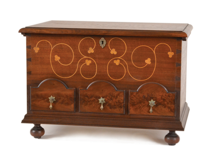 Build a Dowry Chest - Beautiful Wedding Chest with Line and Berry Inlay