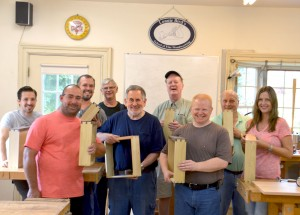 Students learn to cut dovetails