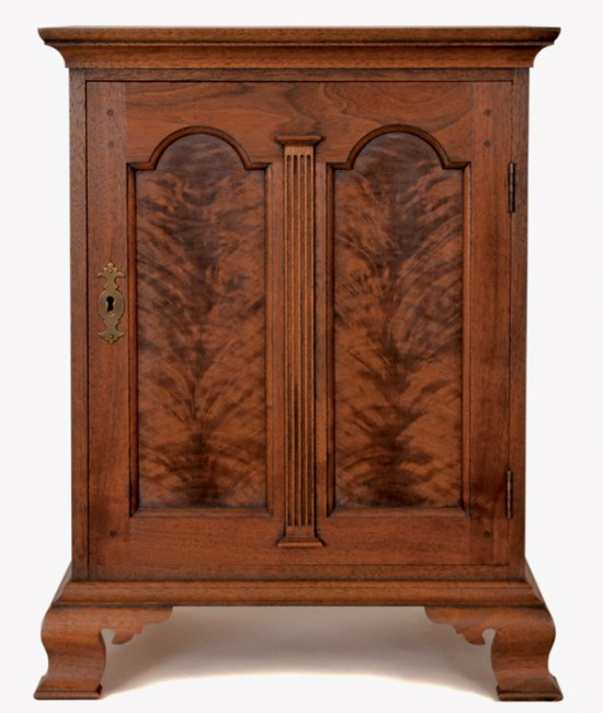 Paneled Spice Box with Figured Walnut