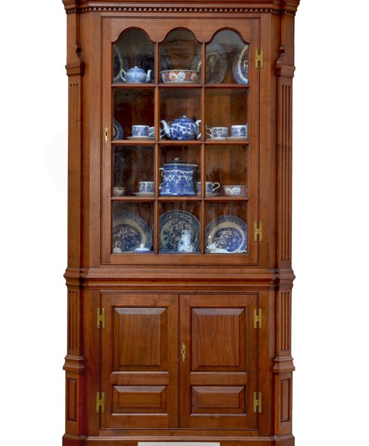 Corner Cabinet with Paneled Doors