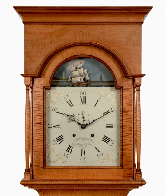 Tiger Maple Clock Hood