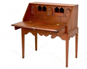 Period Desk with Fan Carvings