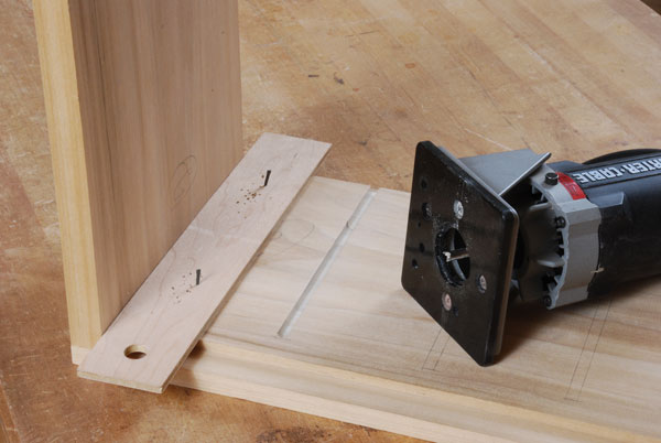 cutting a groove with a router