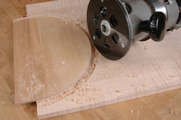 cutting curves with a router