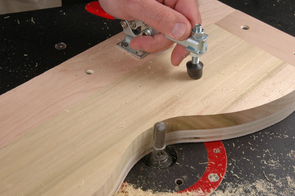 template shaping with a router